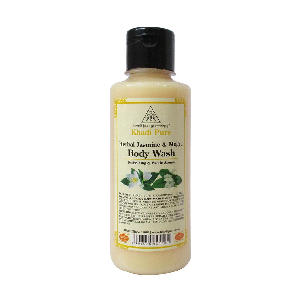 Herbal Jasmine & Mogra Body Wash - 210ml-Khadi Pure