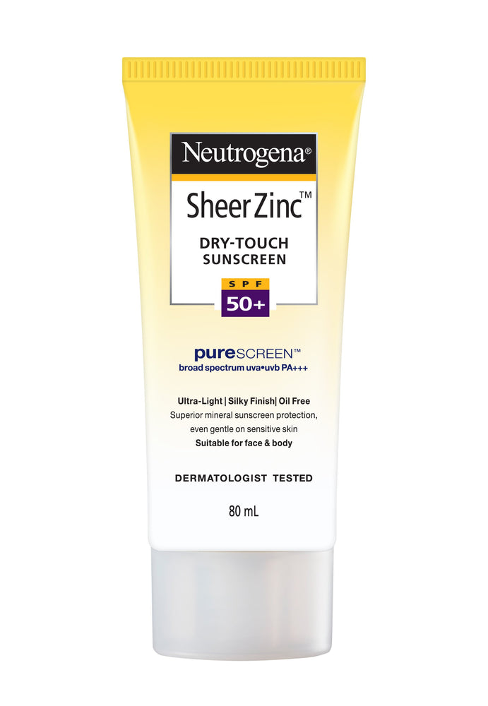 Neutrogena Sheer Zinc Dry touch Sunscreen SPF50+  (for sensitive skin) 80 ml