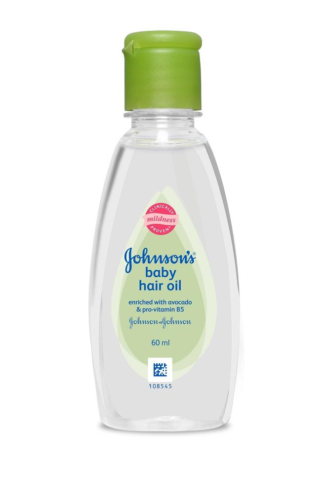 Johnson's Baby Hair Oil 60ml (Pack of 4)