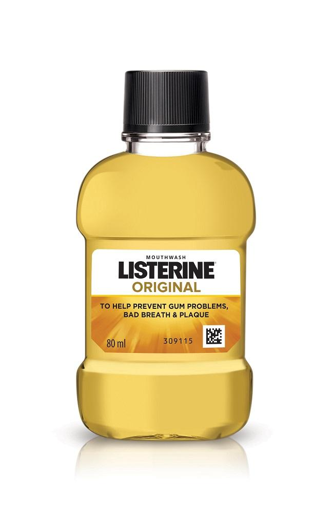 Listerine Mouthwash Original 80ml (Pack of 4)
