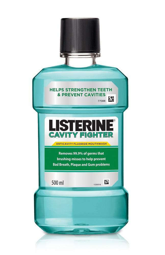 Listerine Mouthwash Cavity Fighter 500ml