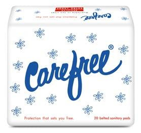 Carefree Regular Belted Sanitary Napkins 20's (Pack of 2)
