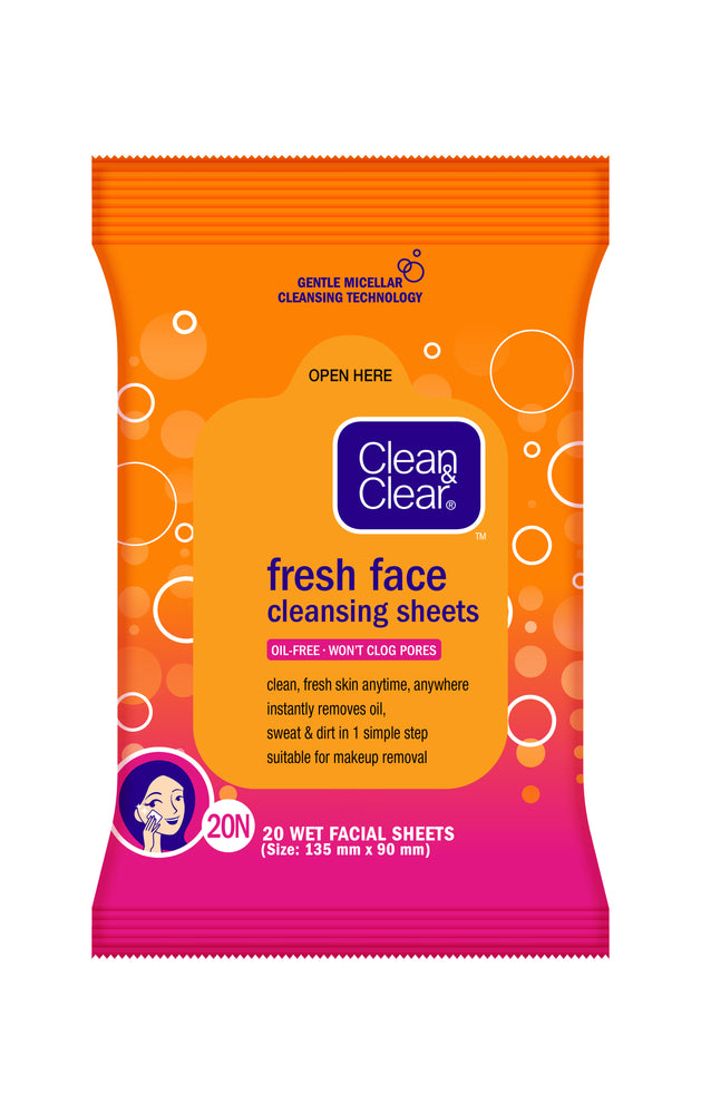 Clean & Clear Facial Wipes 20s