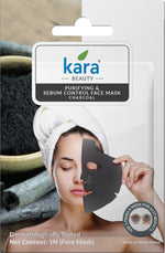 Kara Purifying & Sebum Control Charcoal Sheet Face Mask (Pack of 2)