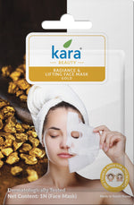 Kara Radiance & Lifting Gold Sheet Face Mask (Pack of 2)