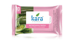 Kara Cleansing and Refreshing Face Wipes with Cucumber and Aloe Vera (10 wipes) (Pack of 4)