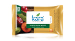 Kara Sunscreen Wipes with Plum and Aloe Vera with SPF 20 10 Wipes (Pack of 3)