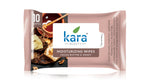 Kara Moisturising Wipes with Cocoa Butter and Honey 10 Wipes (Pack of 3)