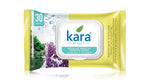 Kara Micellar Water Makeup Removal Wipes With Seaweed And Lavender - With Lid (30 wipes)