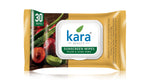 Kara Sunscreen Wipes with Plum and Aloe Vera with SPF 20 30 Wipes (with Lid)