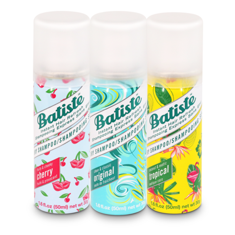 Batiste Fruity & Cheeky Cherry, Clean & Classic Original, Coconut & Exotic Tropica - 150 ML