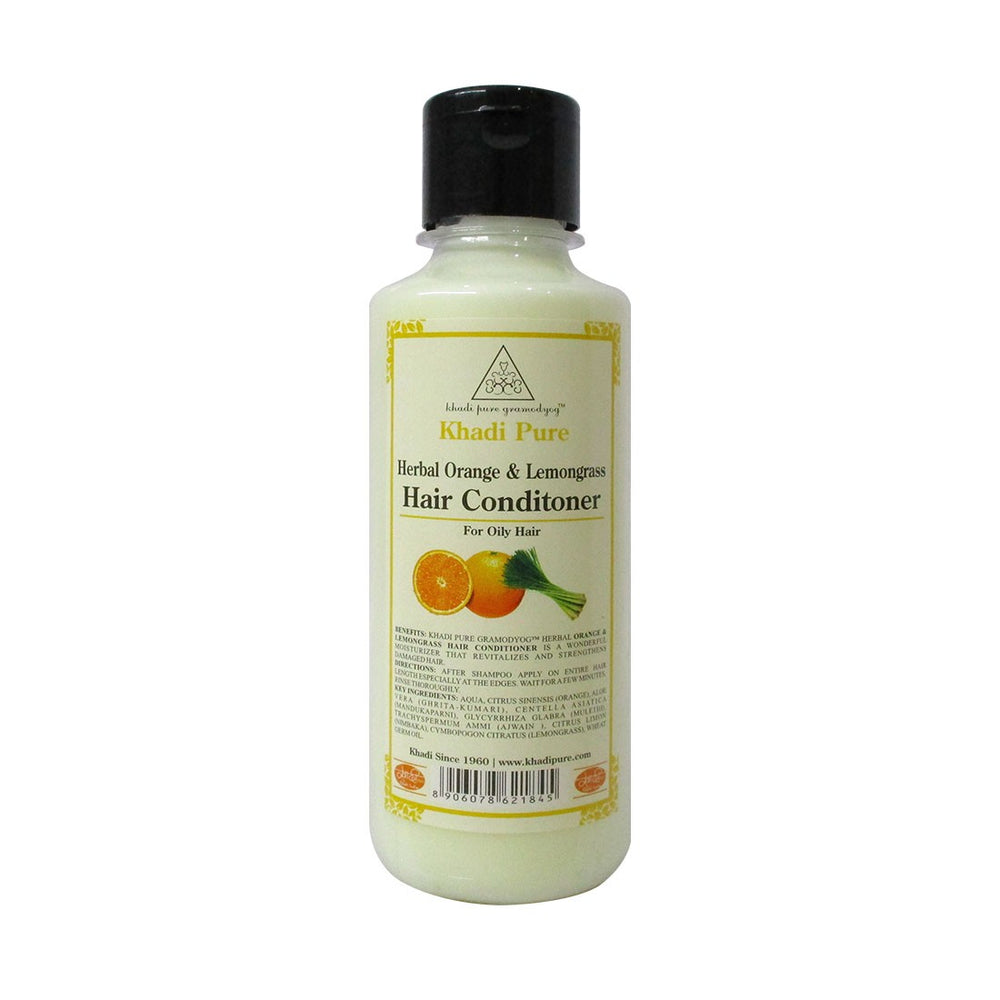 Herbal Orange & Lemongrass Hair Conditioner - 210ml-Khadi Pure