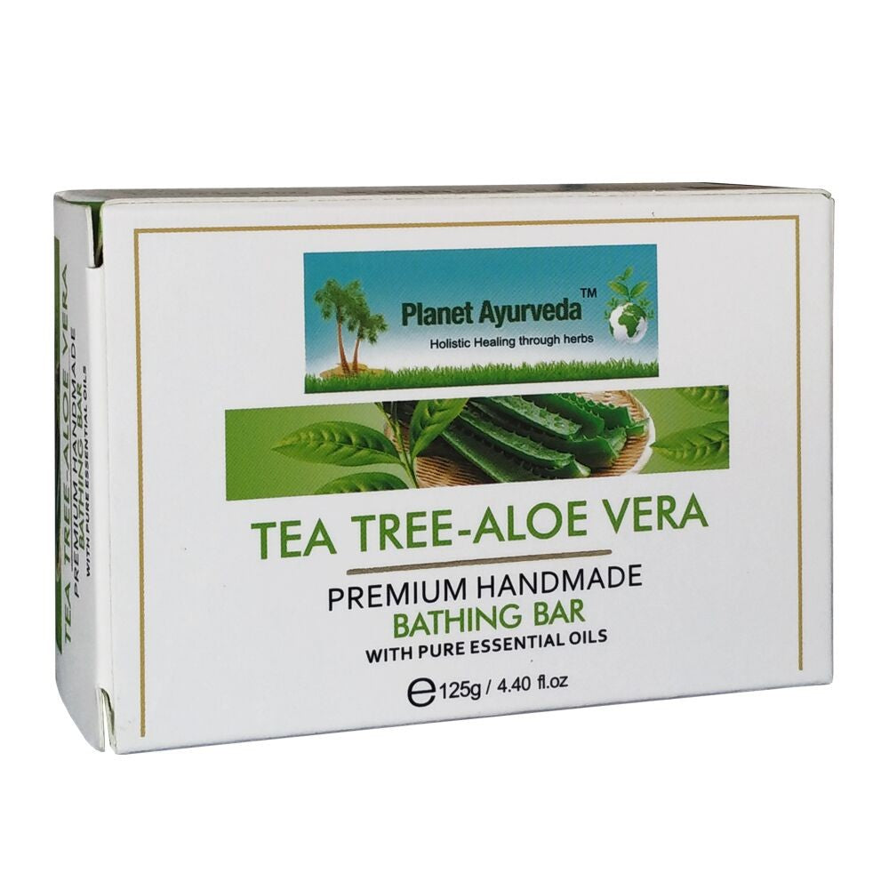 Tea Tree-Aloe Vera Premium Handmade Bathing Bar - 2 Bars