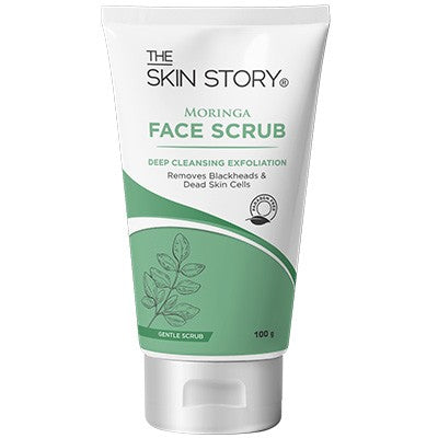 Moringa Face Gentle Scrub, Deep Cleansing Exfoliator, 100 g-The Skin Story
