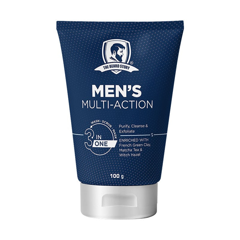 3 in 1 Multi Action Wash Scrub & Mask-The Beard Story