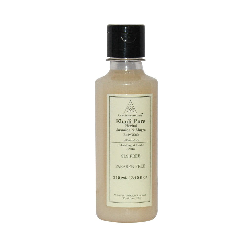 Herbal Jasmine & Mogra Body Wash SLS-Paraben Free - 210ml-Khadi Pure