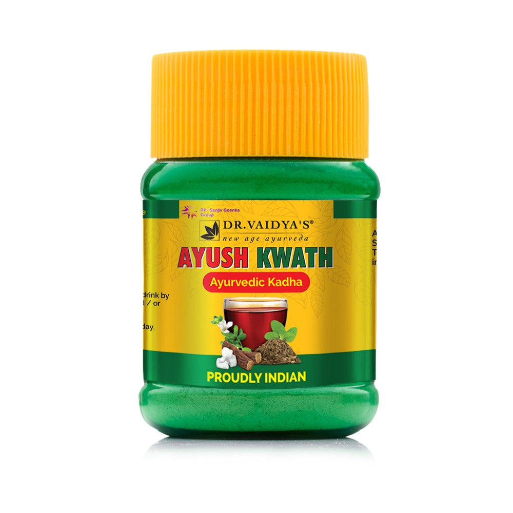 Dr. Vaidya's Ayush Kwath - Ayurvedic Immunity Boosting Kadha Powder - 50 gms Each (Pack of 2)
