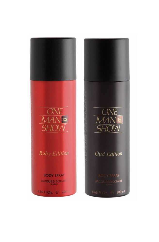 Jacques Bogart One Man Show Ruby + One Man Show Oud Deo Combo Set - Pack of 2