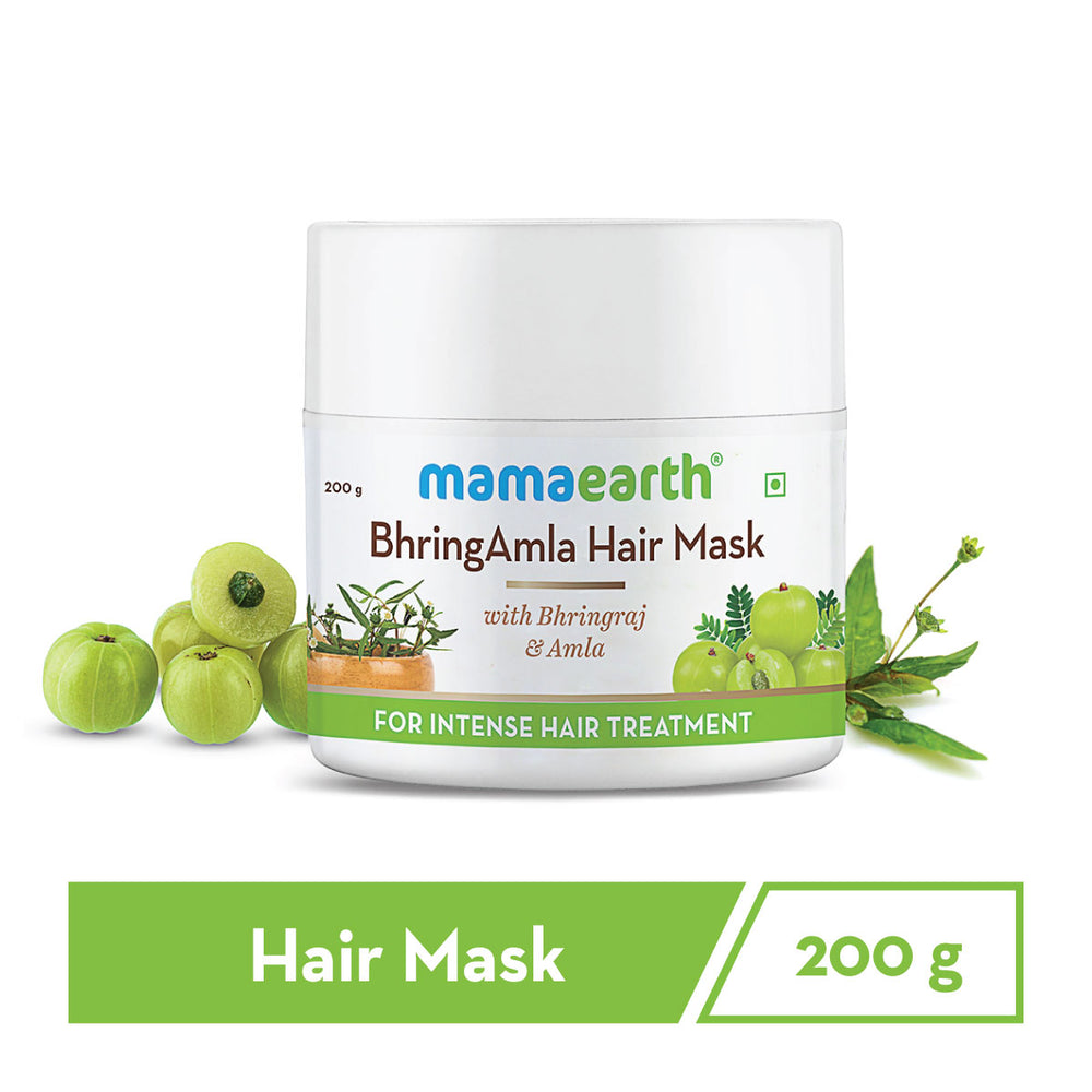 BhringAmla Hair Mask with Bhringraj & Amla for Intense Hair Treatment – 200 g