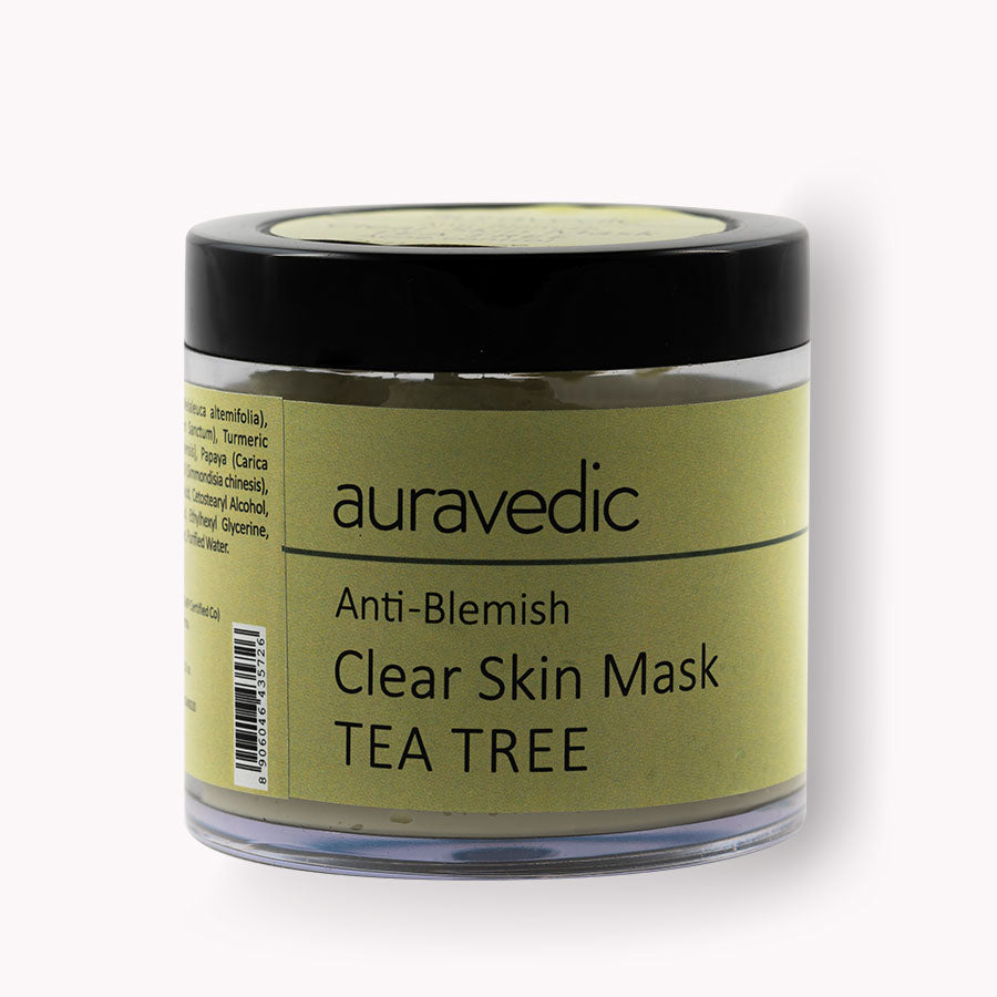 Auravedic Anti Blemish Clear skin mask - Neem and Tea Tree Anti Acne Spot Treatment