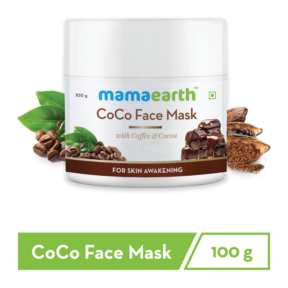 CoCo Face Mask, For Glowing Skin, With Coffee & Cocoa - 100g