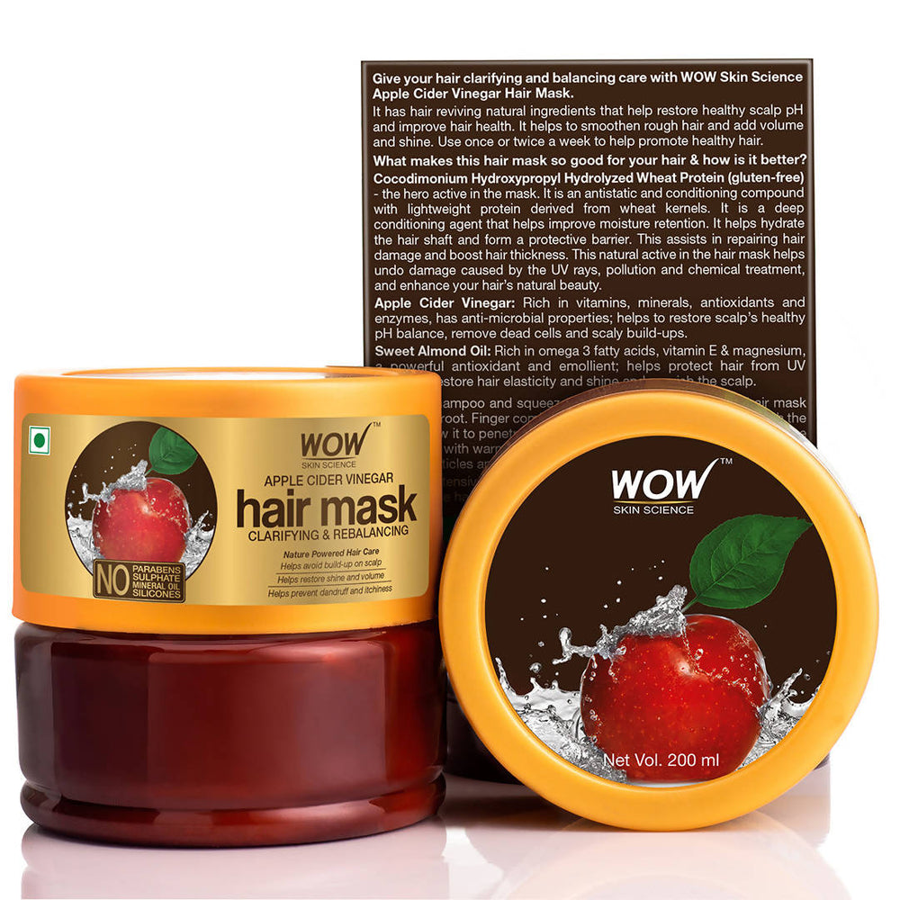 WOW Skin Science Apple Cider Vinegar Hair Mask - 200mL