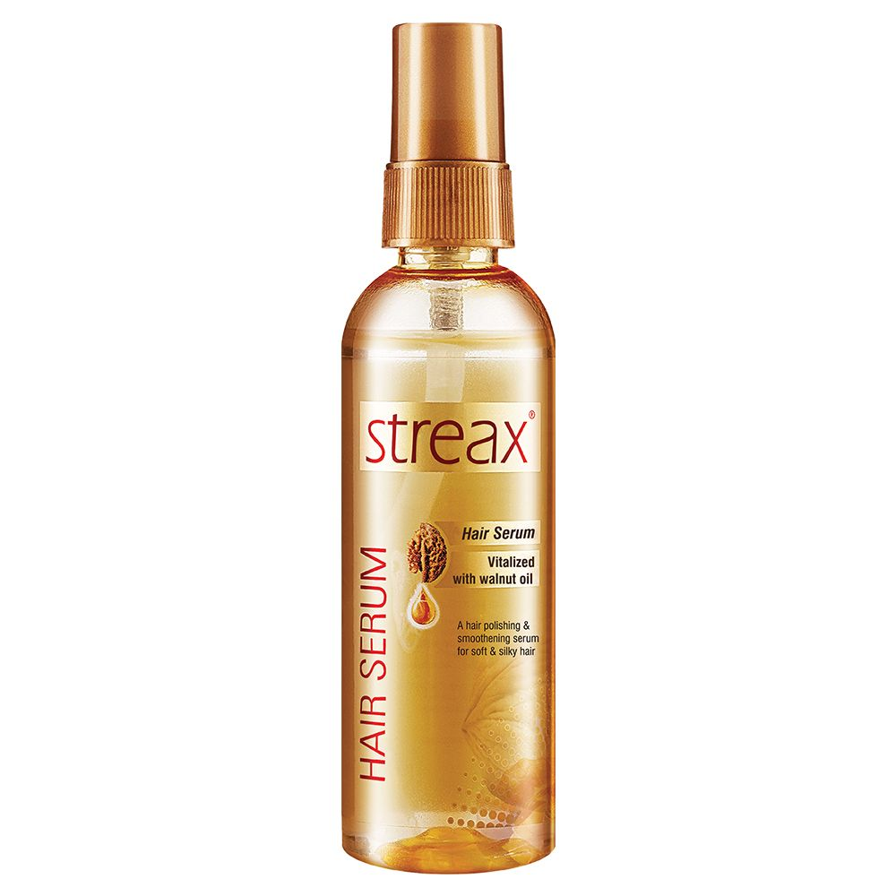 Streax Hair Serum for Women & Men | Contains Walnut Oil | Instant Shine & Smoothness | Regular use Hair Serum for Dry & Wet Hair | Gives frizz – free Hair | Soft & Silky Touch | 100ml
