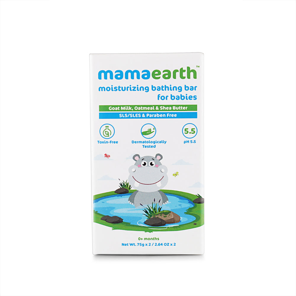 Mamaearth moisturizing bathing bar for babies Pack of 2