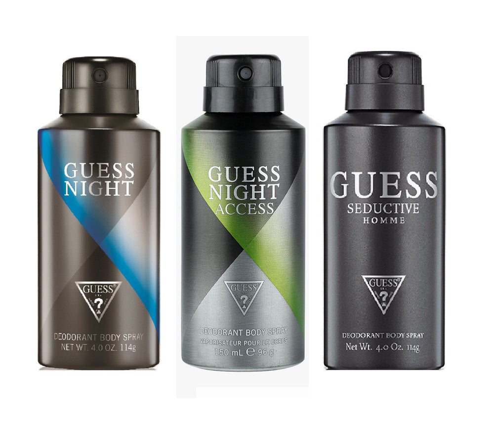 Guess Night + Nightacess + Seductivehomme Deo Combo Set - Pack of 3