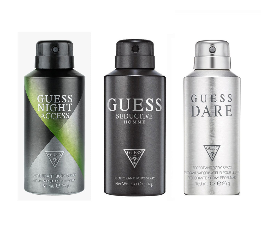 Guess Seductivehomme + Darehomme + Nightacess Deo Combo Set - Pack of 3
