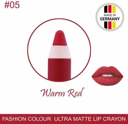 Ultra Matte Lip Crayon Warm Red Lipstick