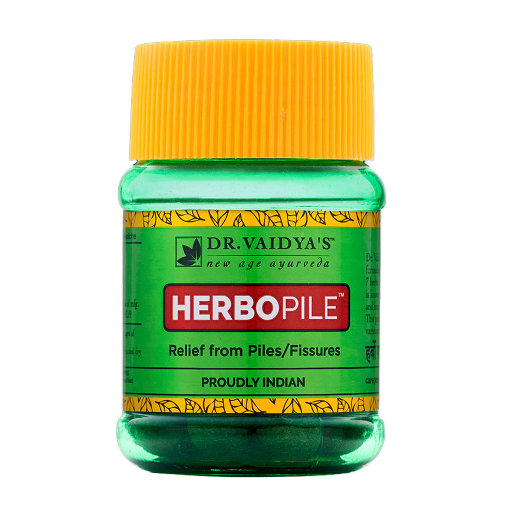 Dr. Vaidya's Herbopile Pills -Ayurvedic Treatment for Piles & Fissures - Pack of 2