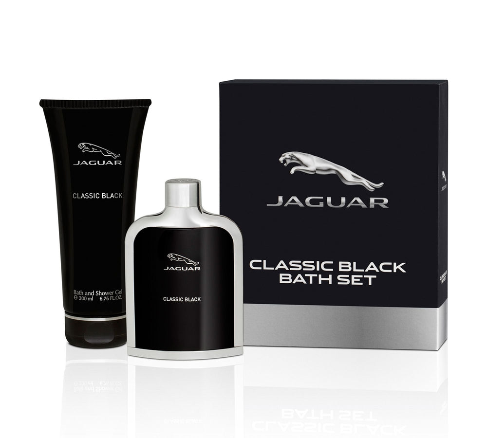 Jaguar Classic Black Gift Set (Eau de Toilette 100ml + Shower Gel 200ml), 30% Off