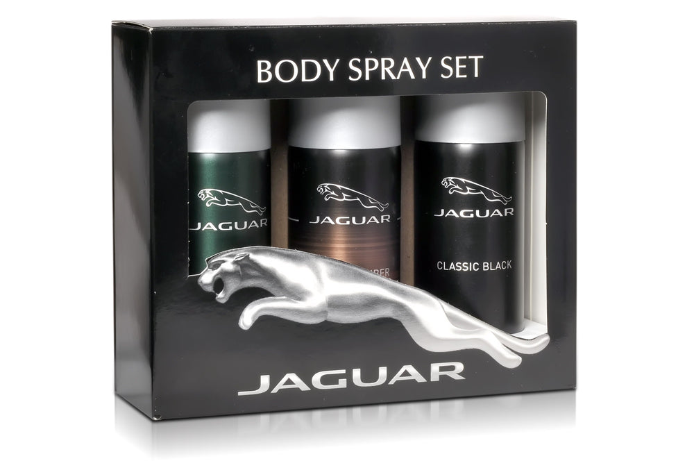 Jaguar Classic Black + Classic Amber + For Men Deo Combo Set - Pack of 3