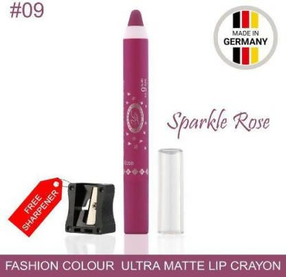 Ultra Matte Lip Crayon Sparkle Red Lipstick