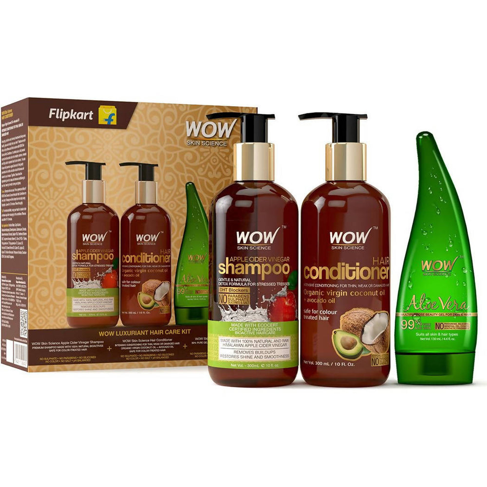 WOW Skin Science Luxuriant Hair care Kit -730mL