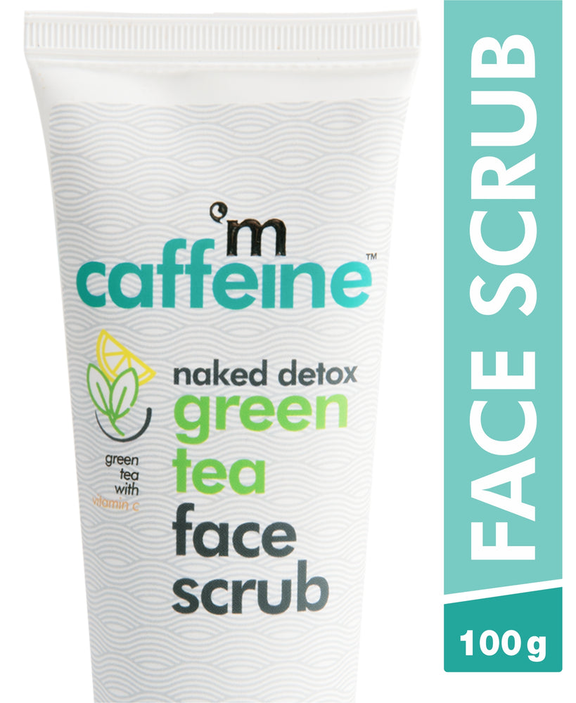 mCaffeine Naked Detox Green Tea Face Scrub (100 g)
