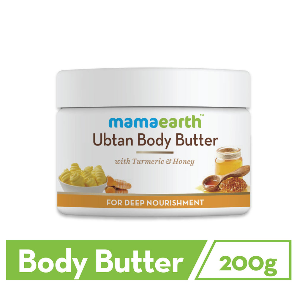 Ubtan Body Butter, For Dry Skin, With Turmeric & Honey, For Deep Nourishment, 200g
