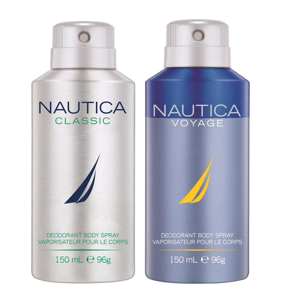 Nautica Classic + Voyage Deo Combo Set - Pack of 2