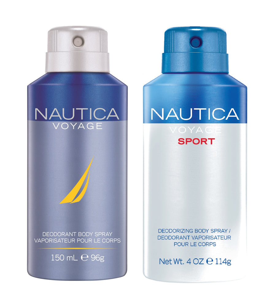 Nautica Voyage + Voyagesport Deo Combo Set - Pack of 2