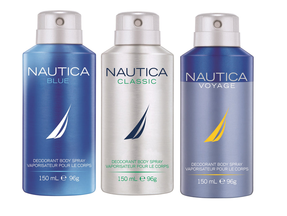 Nautica Blue + Classic + Voyage Deo Combo Set - Pack of 3