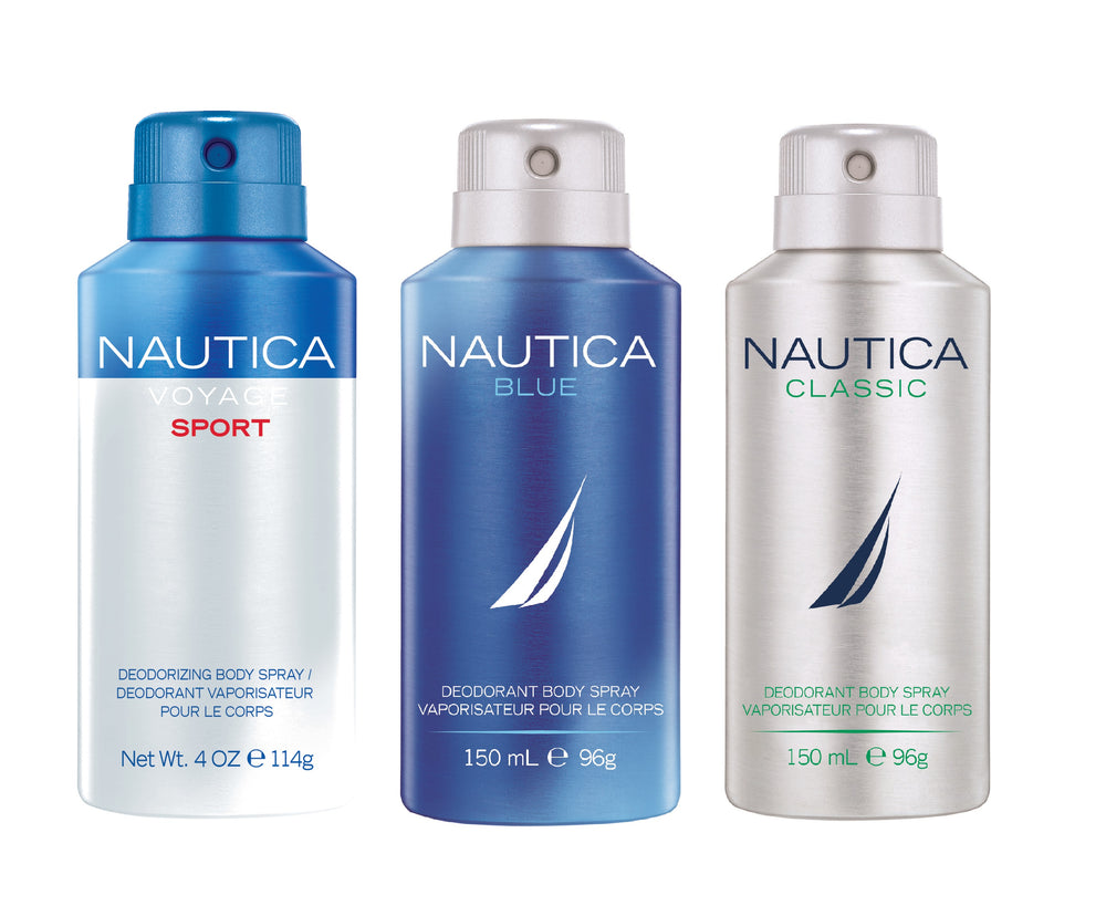 Nautica Voyage Sports + Blue + Classic Deo Combo Set - Pack of 3