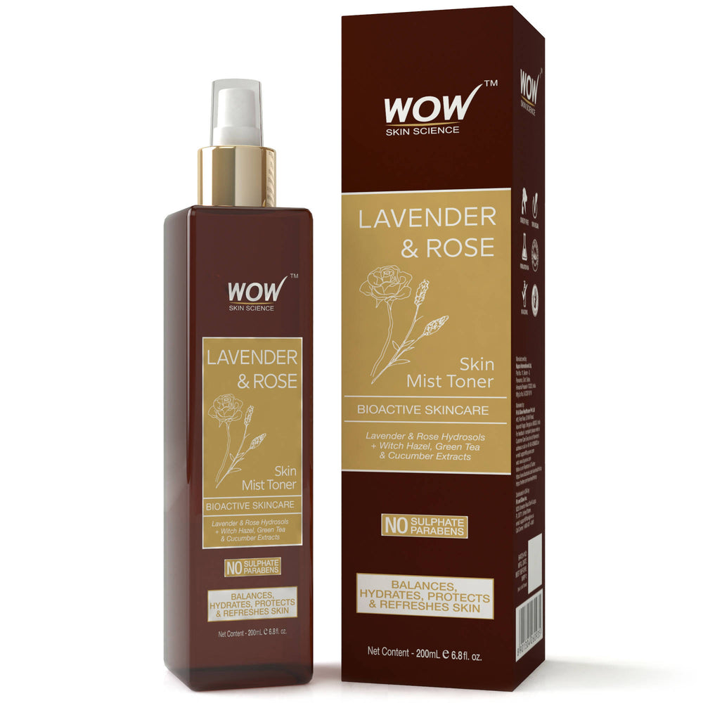 WOW Skin Science Lavender & Rose Skin Mist Toner - 200 ml