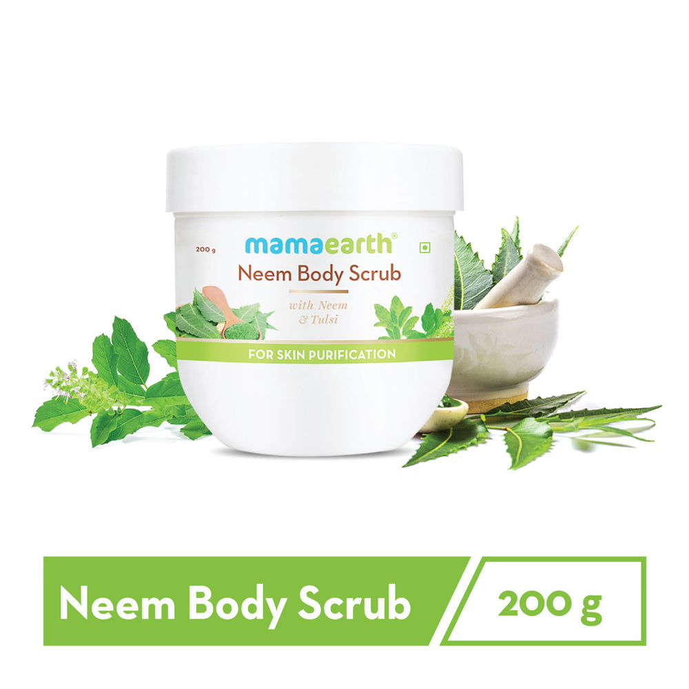 Neem Body Scrub with Neem & Tulsi for Skin Purification – 200 g