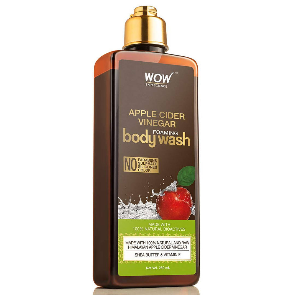 WOW Skin Science Apple Cider Vinegar Foaming Body Wash - No Parabens, Sulphate, Silicones & Color - 250mL
