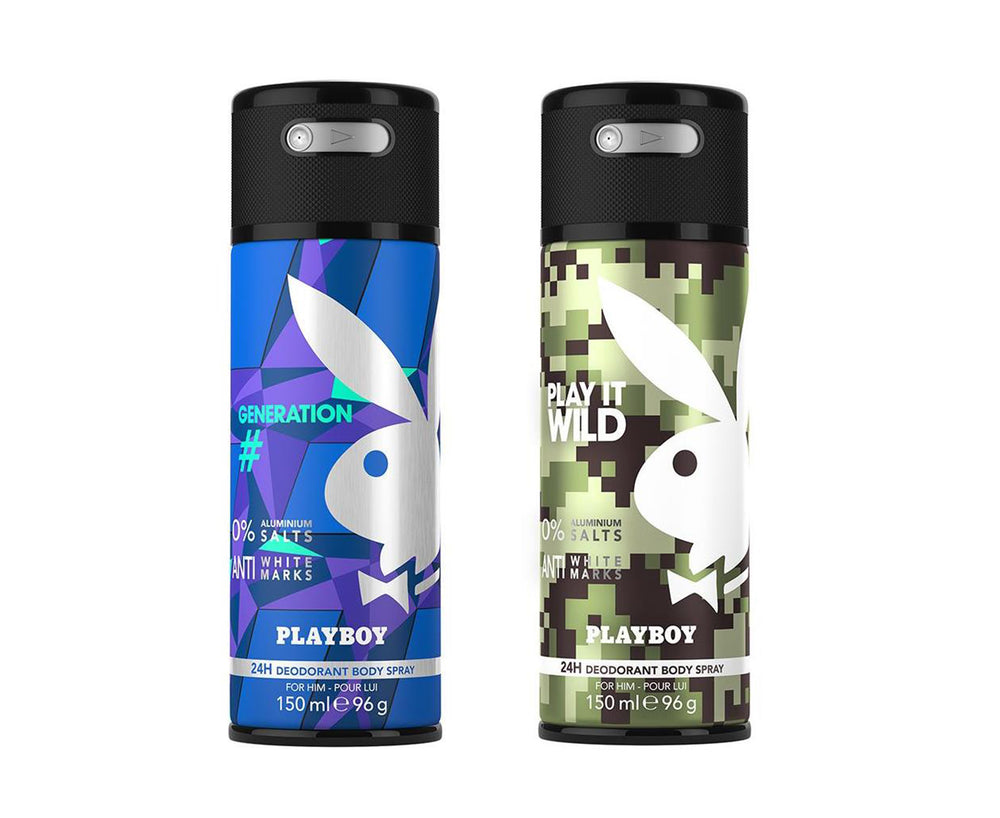 Playboy Generation + Wild Deo New Combo Set - Pack of 2 Mens