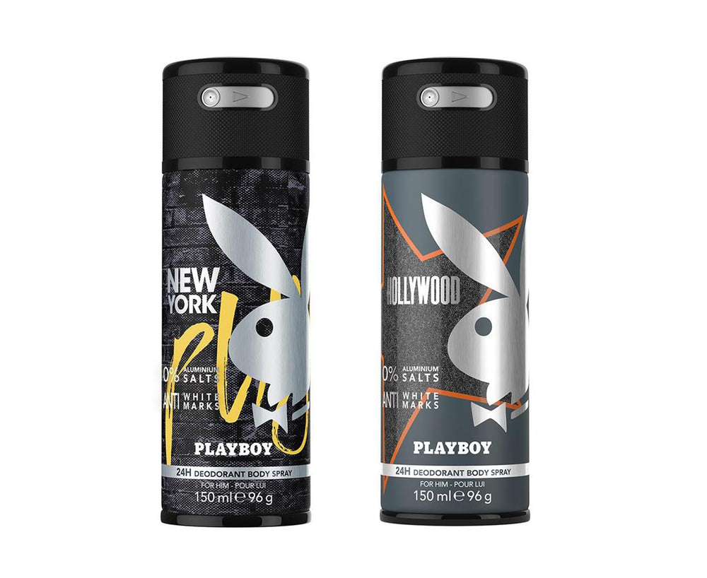 Playboy Hollywood + New York Deo New Combo Set - Pack of 2 Mens