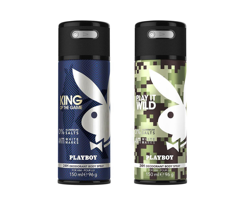 Playboy King + Wild Deo New Combo Set - Pack of 2 Mens