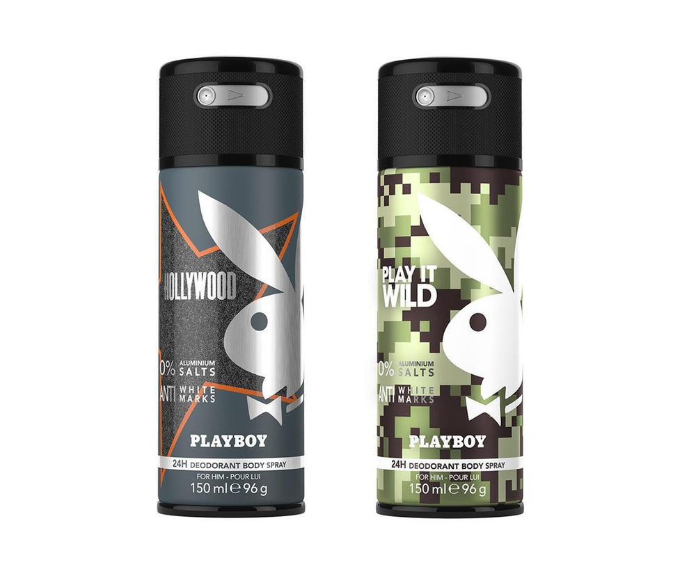 Playboy Hollywood + Wild Deo New Combo Set - Pack of 2 Mens