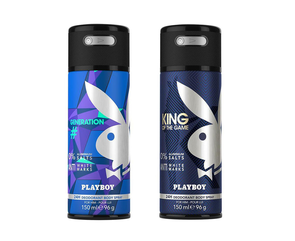 Playboy King + Generation Deo New Combo Set - Pack of 2 Mens